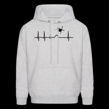 Heartbeat Freestyle Skiing Skier Cool Shirt Gift - Men's Hoodie