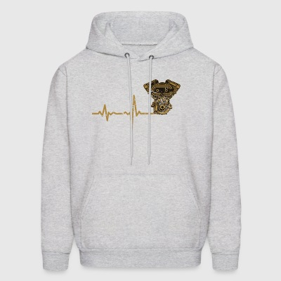 shirt gift heartbeat motorcycle - Men's Hoodie