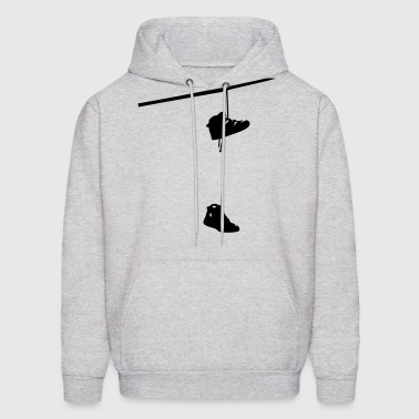 shoefiti shoes hanging bootlace shoelace lace streetart line cable - Men's Hoodie