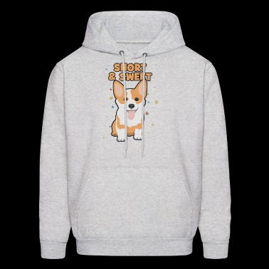 short and sweet puppy corgi - Men's Hoodie