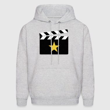 Movie Star Clapperboard Design for Film Lovers - Men's Hoodie