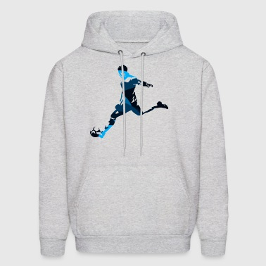 Silhouettes man soccer player sport vector image - Men's Hoodie