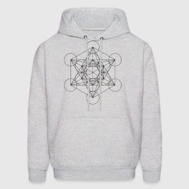 Metatron's Cube Sacred Geometry - Men's Hoodie