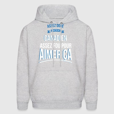 Canadian gifted crazy gift man - Men's Hoodie