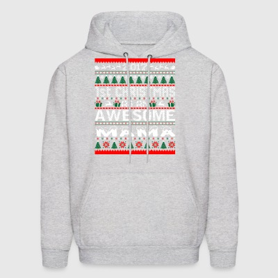 2017 First Christmas Awesome Mama Ugly Sweater - Men's Hoodie
