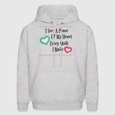 I sew piece of heart into every quilt I make - Men's Hoodie
