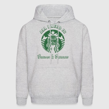 All i need is bulldogs and starbucks - Men's Hoodie