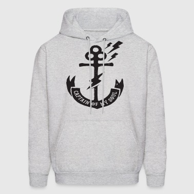 Anchor Captain Printed Unique Hipster Design Mens - Men's Hoodie