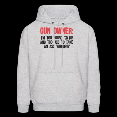 Gun Owner Patriotic American Gun Gifts Second Amen - Men's Hoodie
