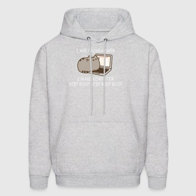 I are programmer I make computer beep boop beep be - Men's Hoodie