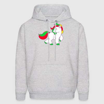 Cute Unicorn Comic funny tshirt - Men's Hoodie