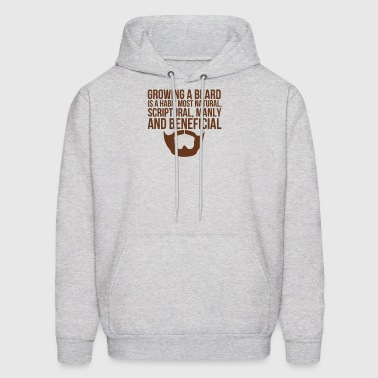 Beards Manly Beneficial - Men's Hoodie