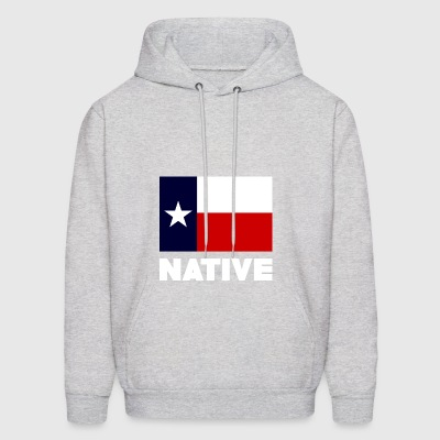 TEXAS FLAG NATIVE WHITE - Men's Hoodie