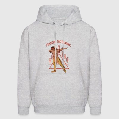 Native American Thankful for Dabbing - Men's Hoodie
