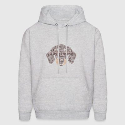 Dachshund Word Cloud - Men's Hoodie