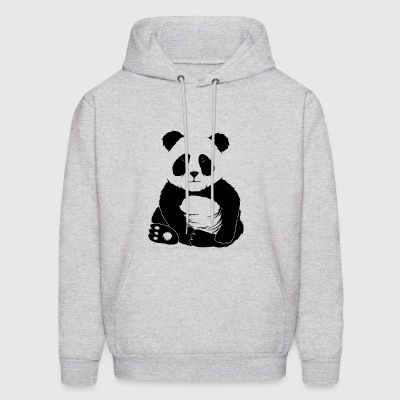 little cool casual chilling panda bear cute gift - Men's Hoodie