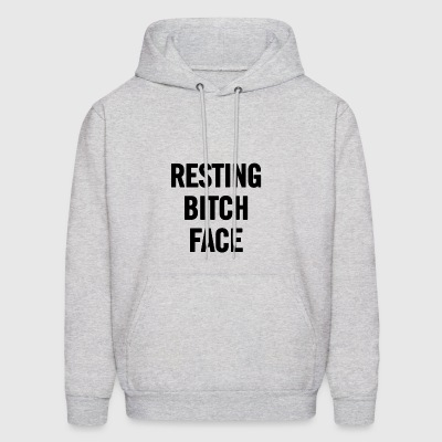 Resting Bitch Face Black - Men's Hoodie