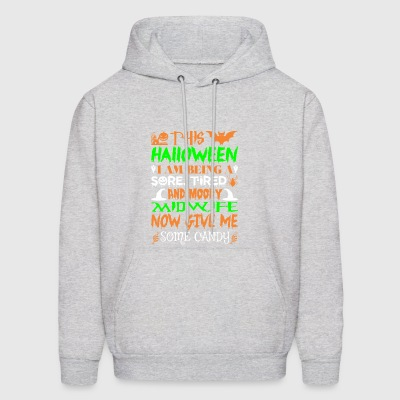 This Halloween Being Tired Midwife Candy - Men's Hoodie