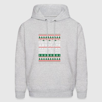 Sleep With Awesome Advocate White Christmas - Men's Hoodie