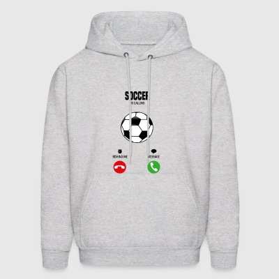 Soccer is calling! gift - Men's Hoodie
