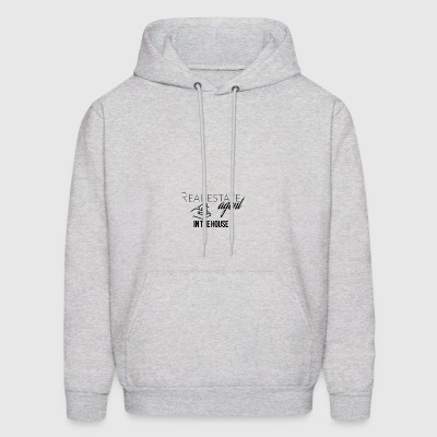 Real estate agent in the house - Men's Hoodie