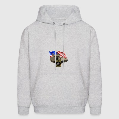 Bradley Fighting Vehicle Flag Logo - Men's Hoodie