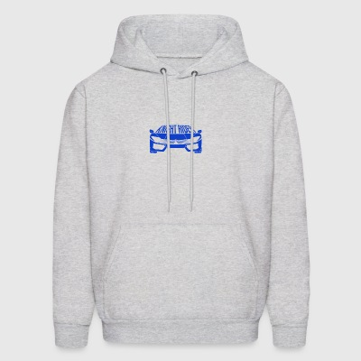 Blue Super Sports Car - Men's Hoodie