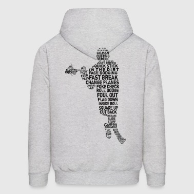 Lacrosse Player Typography - Men's Hoodie