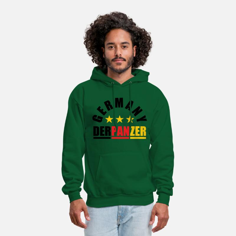 Euro Hoodies & Sweatshirts - DER PANZER - GERMANY - Men's Hoodie forest green
