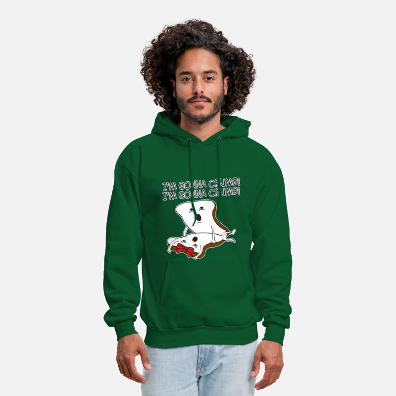 Funny Hoodies & Sweatshirts - I'm Gonna Crumb - Men's Hoodie forest green