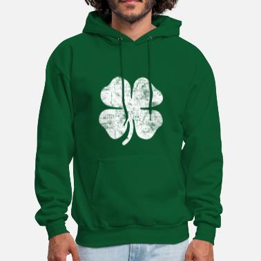 Irish Grunge White Clover - Men's Hoodie