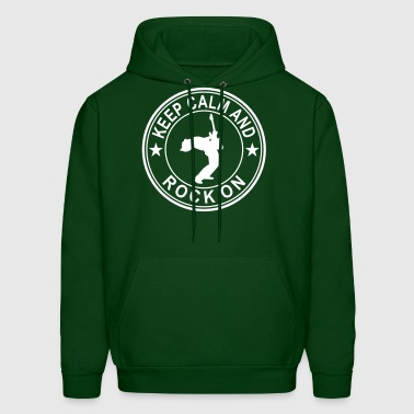 Keep Calm And Rock On Seal - Men's Hoodie