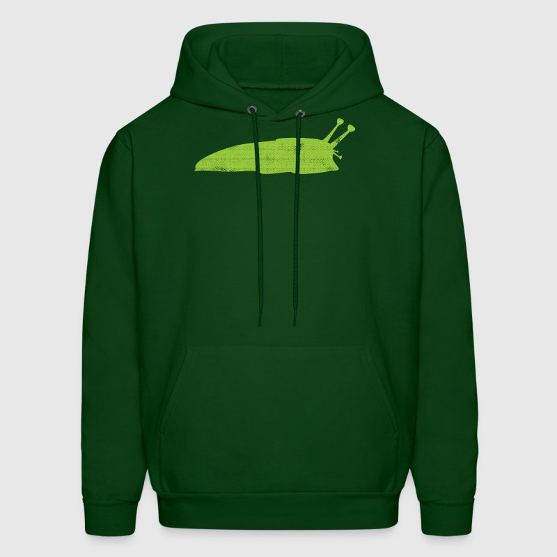 Cute Green Slug with weathered texture - Men's Hoodie