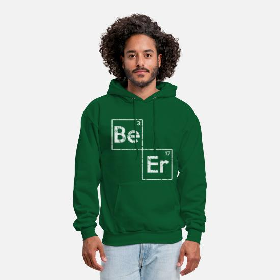 Day Hoodies & Sweatshirts - Beer Elements St Patrick's Day  - Men's Hoodie forest green
