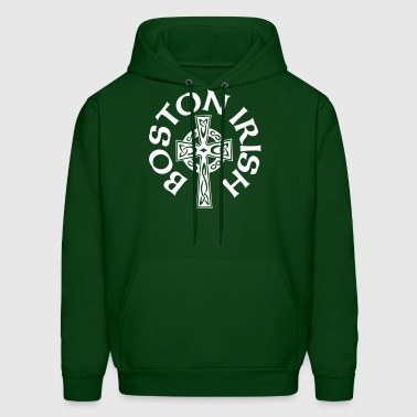 Boston Irish Celtic Cross Clothing Apparel Shirts - Men's Hoodie