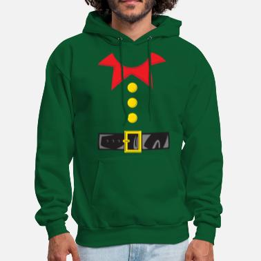 Funny Christmas Elf Costume - Men's Hoodie
