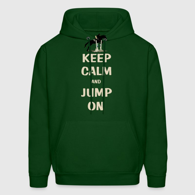 Keep Calm and Jump On Horse - Men's Hoodie