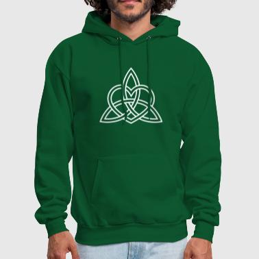 Celtic Triquetra Celtic Heart Trinity Eternal Love Knot   - Men's Hoodie