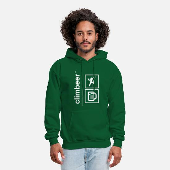 Beer Hoodies & Sweatshirts - climbeer - Men's Hoodie forest green