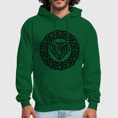 Celtic heart in band - Men's Hoodie