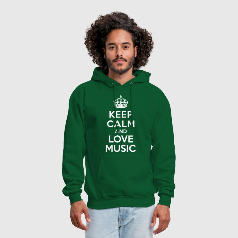Keep calm and Love Music - Men's Hoodie