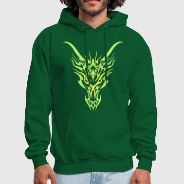 Tribal Tattoo Tribal Dragon - Men's Hoodie