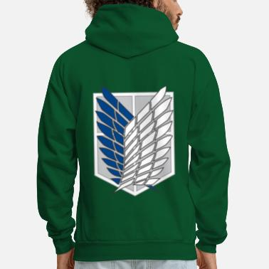 Attack Attack on Titans Recon Corps Logo - Men's Hoodie
