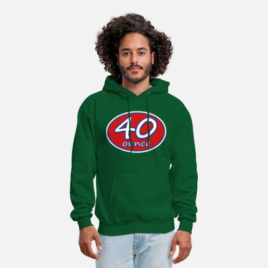 40 Ounce Hoodies & Sweatshirts - 40 Ounce Racer Oval Logo - Men's Hoodie forest green