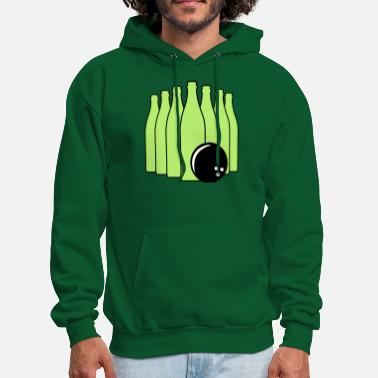 Bowling Ball Beer Bowling with Bowling Ball - Men's Hoodie