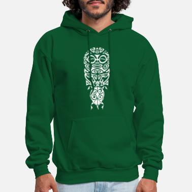 Design maori face turtle t-shirt poloshirt white - Men's Hoodie