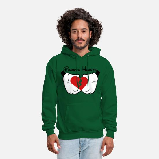 Jet Hoodies & Sweatshirts - broken_hearts - Men's Hoodie forest green