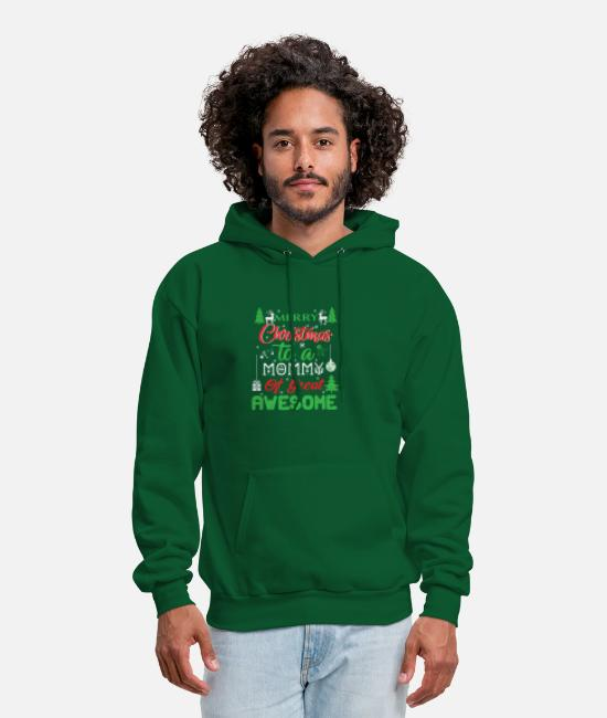 Christmas Hoodies & Sweatshirts - Merry Christmas To A Mommy - Men's Hoodie forest green