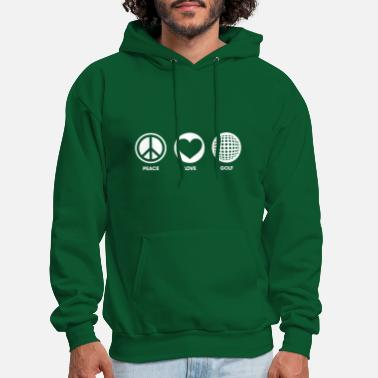 Golf Peace Love Golf - Men's Hoodie