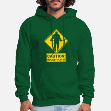 Sports CAUTION: Hockey Player - Men's Hoodie